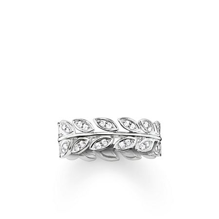 Thomas Sabo Fairy twines silver leaf ring band