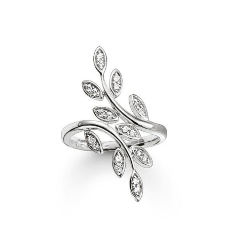 Thomas Sabo Fairy twines silver leaf ring