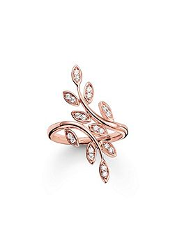 Fairy twines rose gold leaf ring