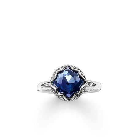 Thomas Sabo Purity of lotos blue corundum ring