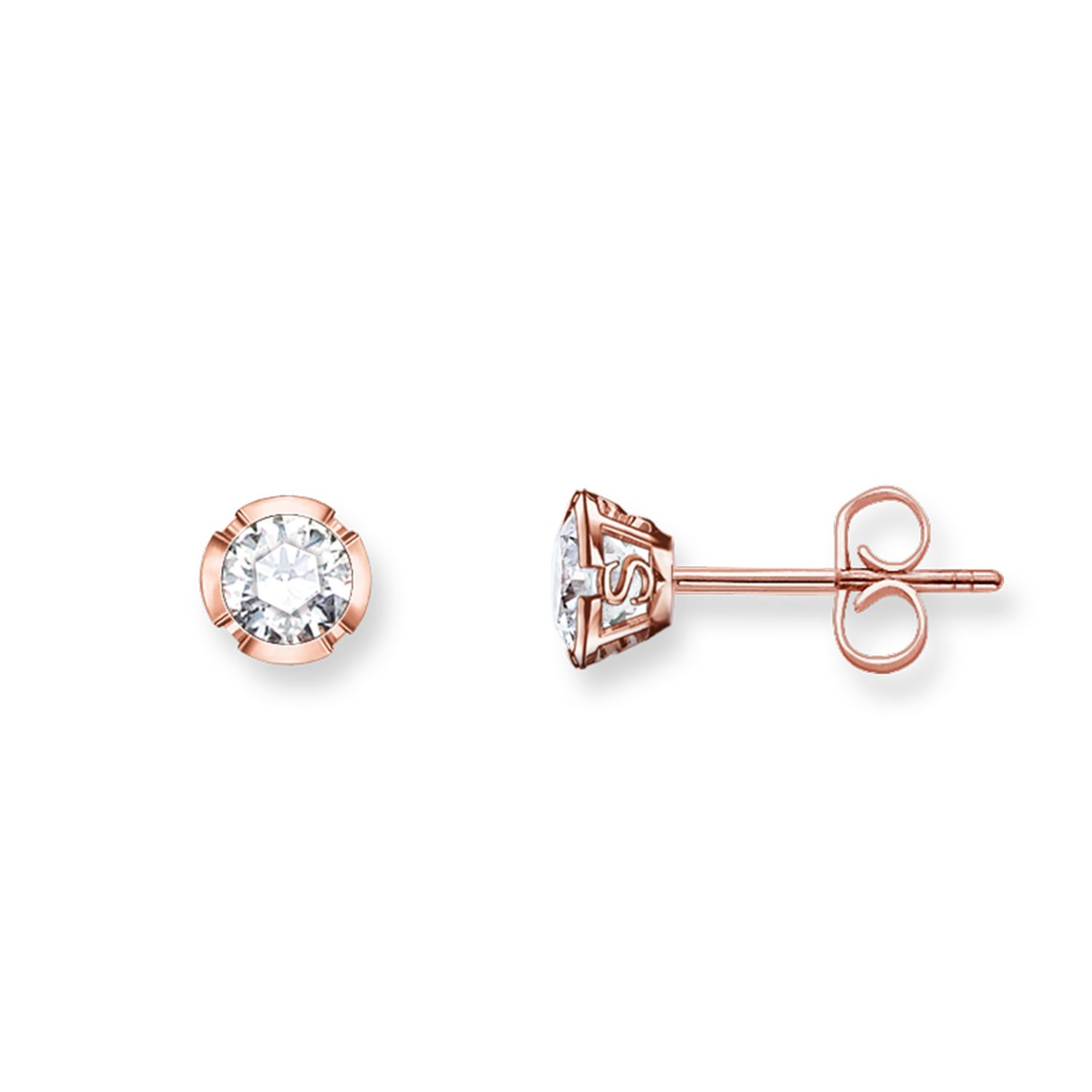 Thomas Sabo Glam & soul ts rose gold ear studs, White