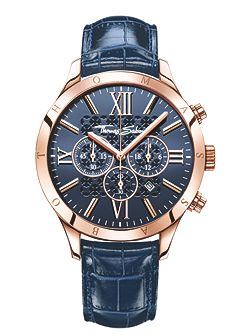 Rebel at heart chronograph watch blue