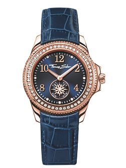 Glam & soul blue watch with zirconia