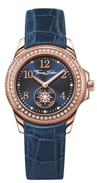 Thomas Sabo Glam & soul blue watch with zirconia