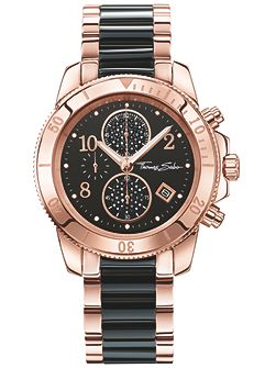 Glam & soul chronograph two-tone watch