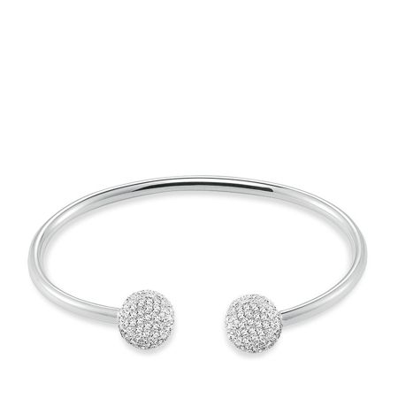 Thomas Sabo Glam & soul white pave silver bangle