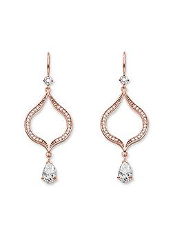 Purity of lotos chandelier earrings