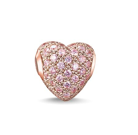 Thomas Sabo Karma beads hot pink pave heart bead
