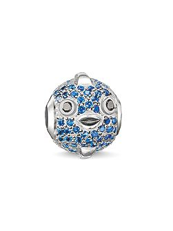 Karma beads blue pufferfish bead