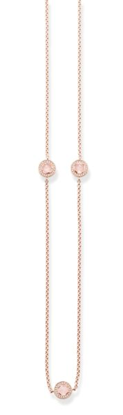 Thomas Sabo Light of luna rose quartz long necklace