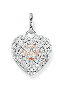 Glam & soul pave heart locket pendant