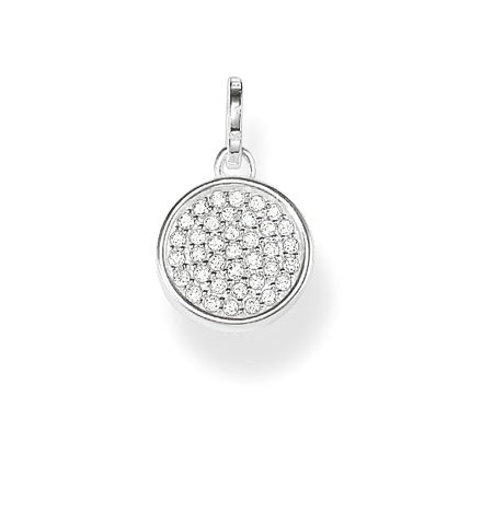 Thomas Sabo Wheel of karma pave set pendant