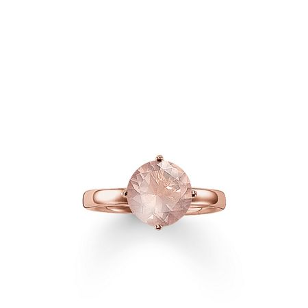 Thomas Sabo Glam & soul rose quartz  solitaire ring