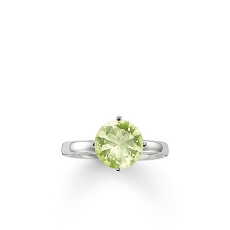 Thomas Sabo Glam & soul green quartz  solitaire ring