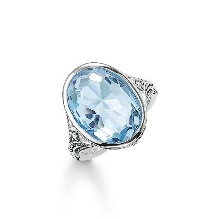 Thomas Sabo Purity of lotos light blue cocktail ring