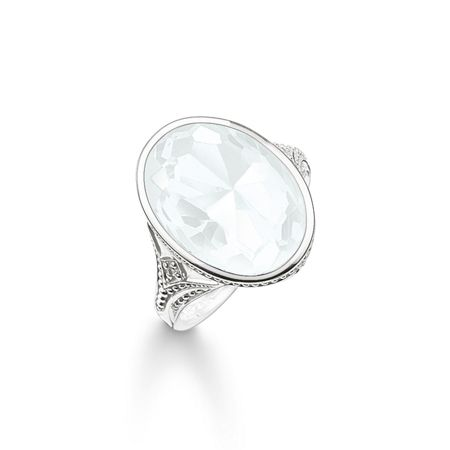 Thomas Sabo Purity of lotos white cocktail ring