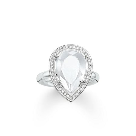 Thomas Sabo Maharani milky quartz drop ring