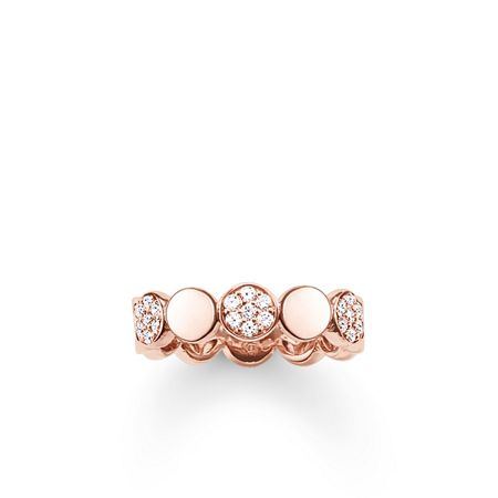 Thomas Sabo Sparkling circles pave rose gold ring