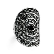 Thomas Sabo Zig zag black onyx cocktail ring