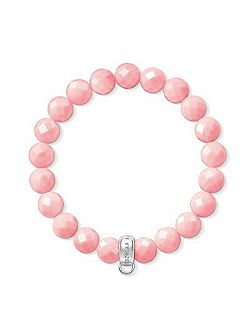 Charm club pink bamboo coral bracelet