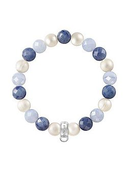 Charm club blue mix stone bracelet