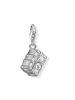 Charm club treasure chest pendant
