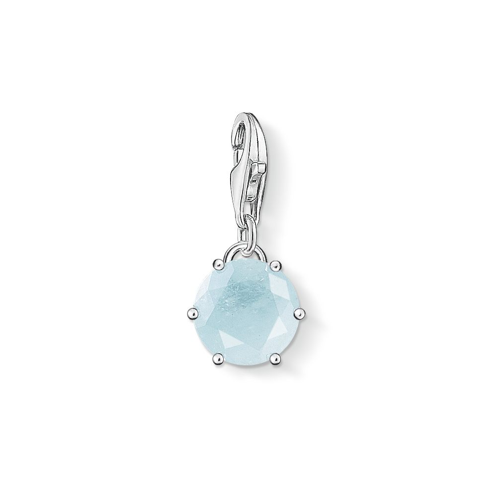 Thomas Sabo Charm club march birthstone pendant Light Blue