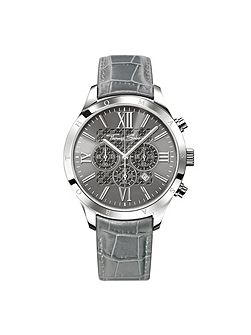 Rebel at heart grey chronograph watch