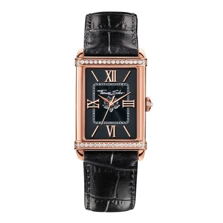 Thomas Sabo Glam & soul black rectangular watch