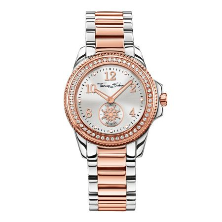 Thomas Sabo Glam & soul black & rose three-hand watch