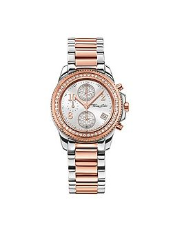 Glam & soul two-tone chronograph watch