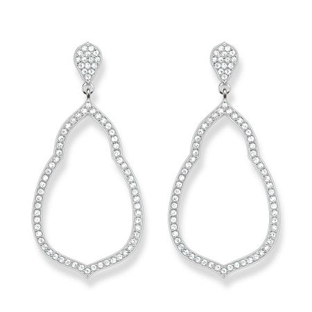 Thomas Sabo Fatima`s garden zirconia drop earrings