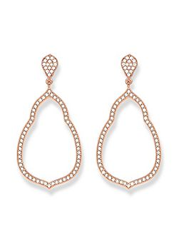 Fatima`s garden zirconia drop earrings