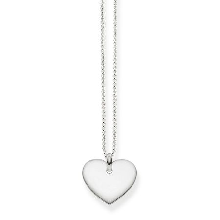 Thomas Sabo Heart tag sterling silver necklace