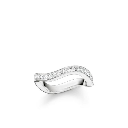 Thomas Sabo Glam & soul silver wave ring