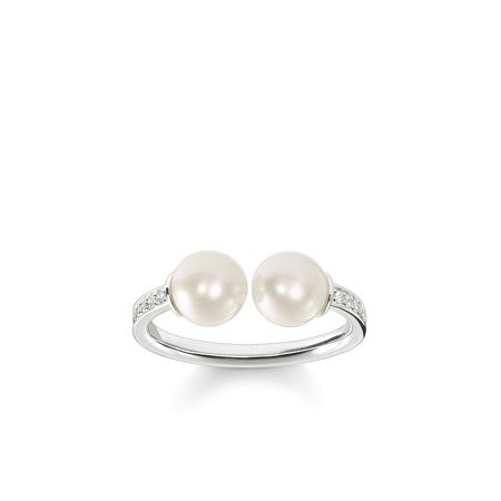Thomas Sabo Glam & soul open design two pearl ring