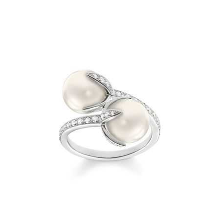 Thomas Sabo Glam & soul twisted pearl open ring