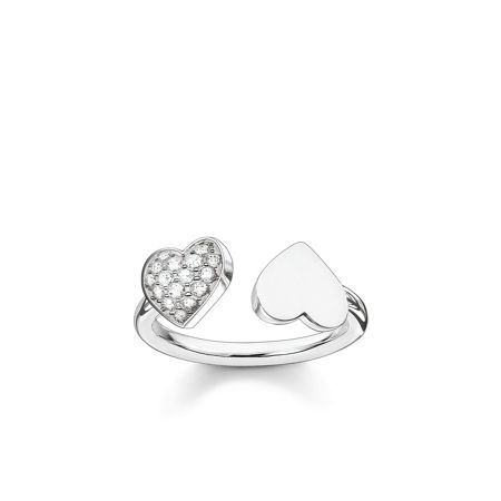 Thomas Sabo Classic silver open double heart ring