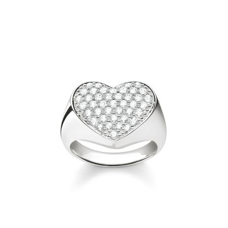 Thomas Sabo Classic silver zirconia heart ring