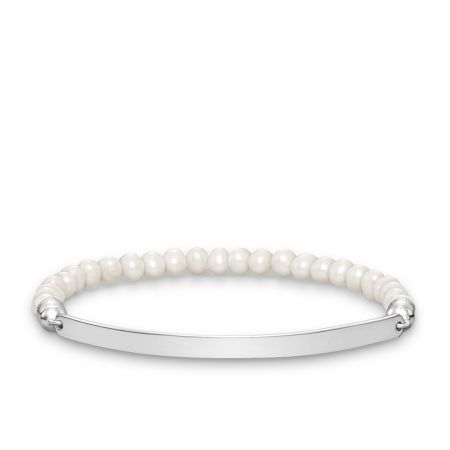 Thomas Sabo Love bridge pearl engravable bracelet