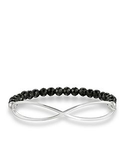 Love bridge black infinity bracelet