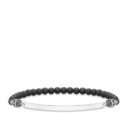 Thomas Sabo Love bridge zirconia skull bracelet