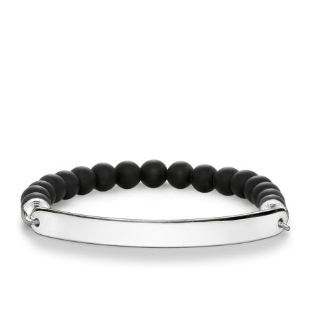 Thomas Sabo Love bridge obsidian engravabe bracelet