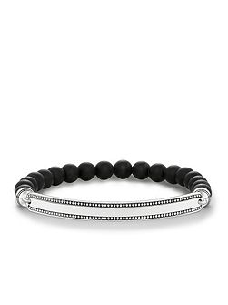 Love bridge black zirconia bracelet