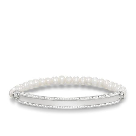 Thomas Sabo Love bridge zirconia pearl bracelet