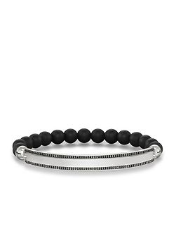 Love bridge black zirconia pavé bracelet
