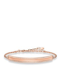 Love bridge rose gold plated bracelet