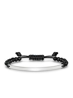 Love bridge black obsidian tie bracelet
