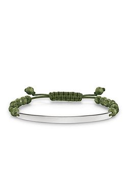 Love bridge green tie bracelet