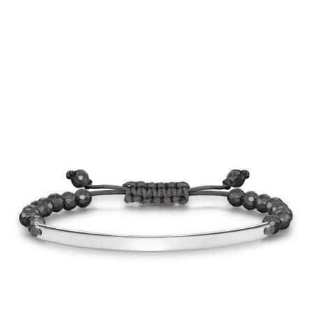 Thomas Sabo Love bridge haematite tie bracelet